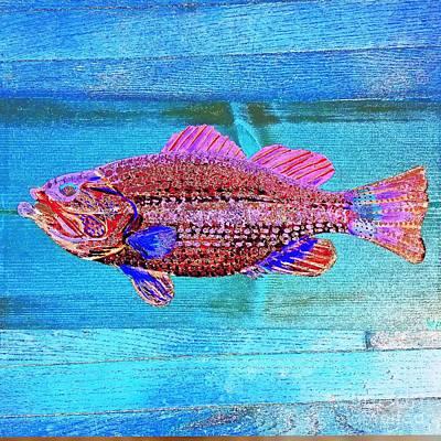 Largemouth Bass Abstract Original by Scott D Van Osdol