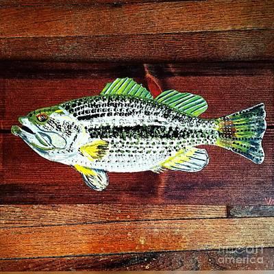 Largemouth Bass Original by Scott D Van Osdol