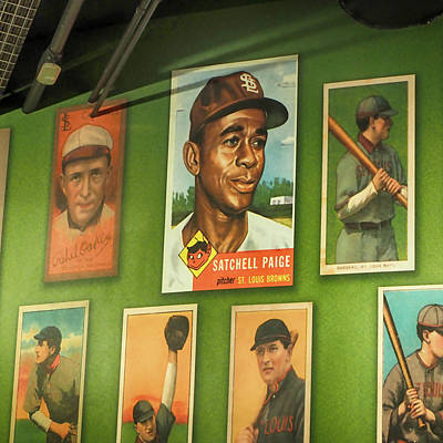 Satchel Paige Photograph - Larger Than Life, Top Of The Wall by C H Apperson