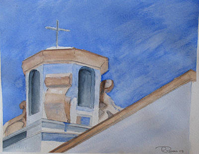 Las Cruces Painting - Las Cruces Church by Randy  Rhodes