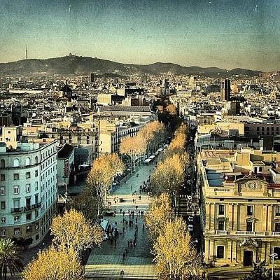Mountain Photograph - Las Ramblas - Barcelona by Joel Lopez