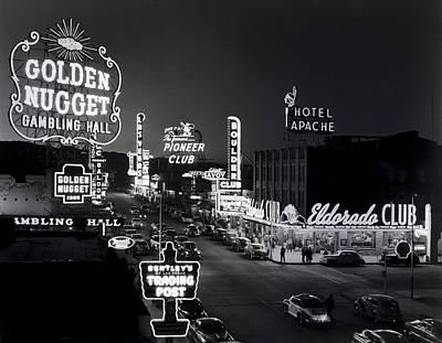 Las Vegas Fremont Street C. 1947 Print by Daniel Hagerman