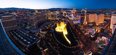 Las Vegas Glitter Print by Steve Gadomski