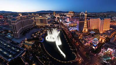 Las Vegas Lights Print by Steve Gadomski