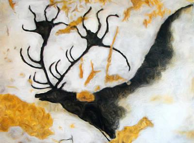Chauvet Cave Photograph - Lascaux Megaceros Deer 2 by Weston Westmoreland