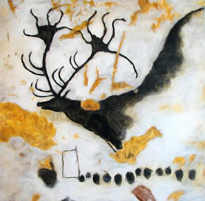 Chauvet Cave Photograph - Lascaux Megaceros Deer by Weston Westmoreland