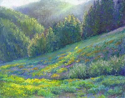 Lassen Painting - Lassen Evening by Kathleen Woolsey