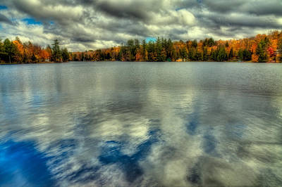 Of Autumn Photograph - Last Bit Of Autumn On Old Forge Pond by David Patterson