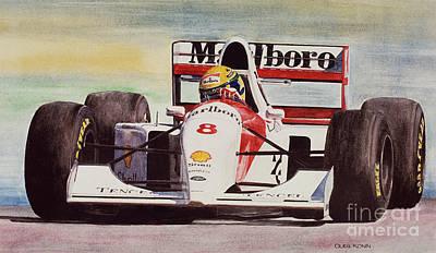 Motor Racing Painting - Memories And Feelings by Oleg Konin