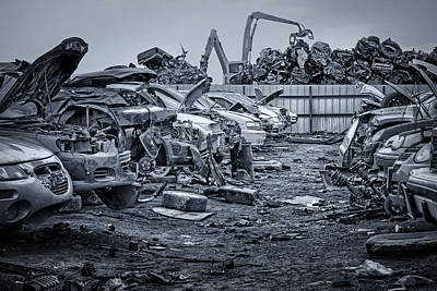 Scrap Metal Yard Photograph - Last Journey - Salvage Yard by Nikolyn McDonald
