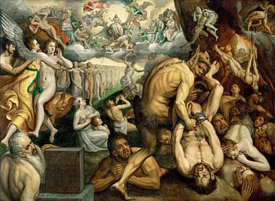 Frans Floris Painting - Last Judgment by Frans Floris