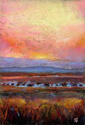 Landscape Pastel - Last Light by Susan Jenkins