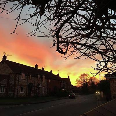 Landscapes Photograph - Last Night's Sunset From Our Cottage by John Edwards