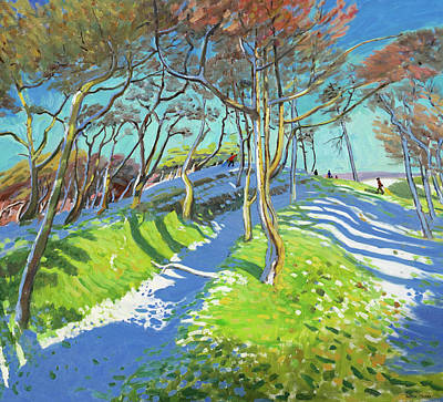 Snow Melt Painting - Last Of The Snow, Ladmanlow by Andrew Macara