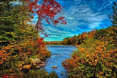 Of Autumn Photograph - Last Peek Of Autumn On The Moose River by David Patterson