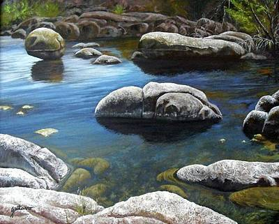 Watson Lake Painting - Last Rays Of Light by Gus Lopez