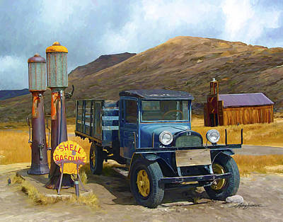 Bodie California Painting - Last Stop by Michael Shifflett