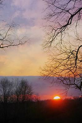 Last Sunset Of The Year Print by Diana Angstadt