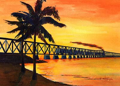 Last Train To Paradise Print by CB Woodling