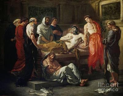 Marcus Painting - Last Words Of The Emperor Marcus Aurelius by Delacroix