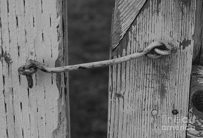 Latch Hook Photograph - Latched by Cobbled Path Photography