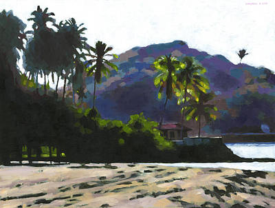 Sunlit Tree Painting - Late Afternoon At Quimixto by Douglas Simonson