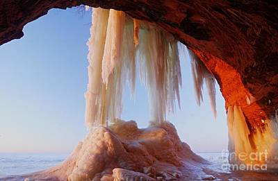 Cornucopia Photograph - Late Afternoon In An Ice Cave by Larry Ricker