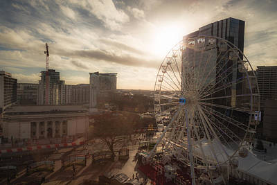 Late Afternoon In Centenary Square Print by Chris Fletcher
