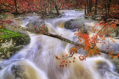 Waterfalls Photograph - Late Autumn At Cedar Creek - Petit Jean State Park - Arkansas by Jason Politte