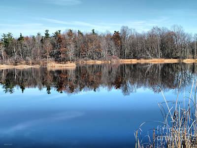 Late Autumn Reflections Print by Deborah Benoit