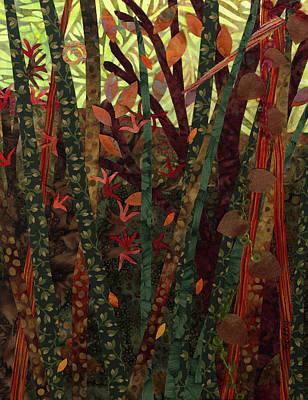 Fabric Mixed Media - Late Season Tangle by Julia Berkley