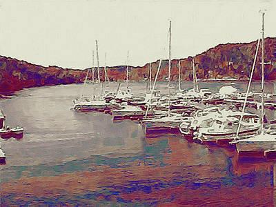 Late Summer Harbor Print by Susan Maxwell Schmidt