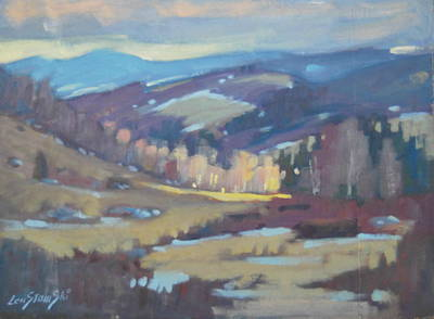 Distant Mountains Painting - Late Winter by Len Stomski