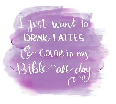 Lattes And Color Print by Nancy Ingersoll