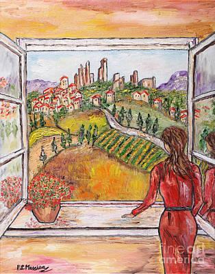 Rustic Painting - L'attesa by Loredana Messina