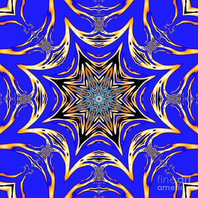 Mandala Digital Art - Lattice Star Mandala by Marv Vandehey