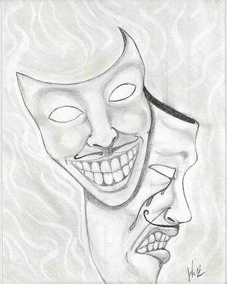 Tears Drawing - Laughing Tears by John Bainter