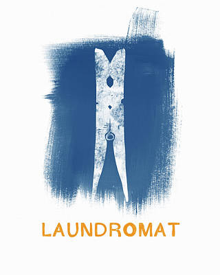 Laundry Painting - Laundromat- Art By Linda Woods by Linda Woods