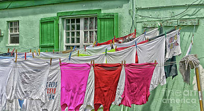 Clothes Pins Photograph - Laundry Day by Arnie Goldstein