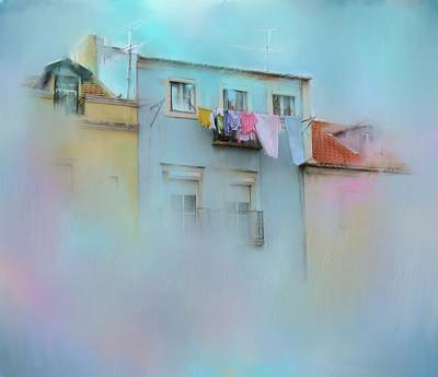 Old Town Digital Art - Laundry Day Blues by Carla Parris