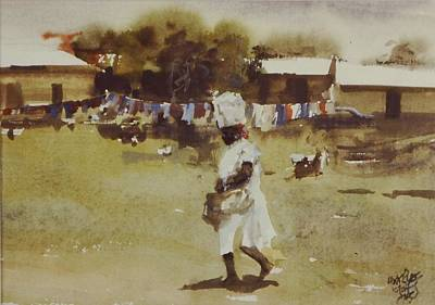 Laundry Painting - Laundry Day by Charles Hawes