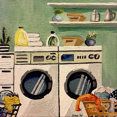 Pai Painting - Laundry Day. by Esther Pai