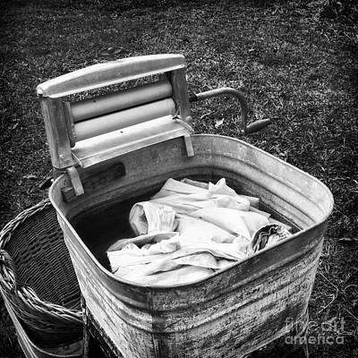Washtub Photograph - Laundry Day by Patrick M Lynch