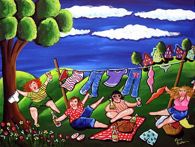 Laundry Painting - Laundry Day by Renie Britenbucher