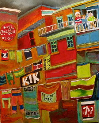 Seven Up Sign Painting - Laundry Days Montreal Memories by Michael Litvack
