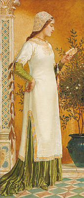 Bookworm Painting - Laura Reading by Walter Crane