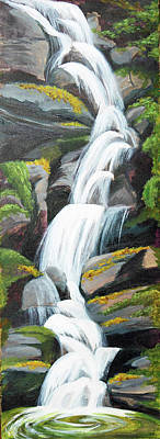 Great Smokey Mountains Painting - Laurel Falls by Candice Caldwell Day