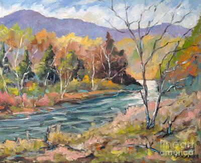 Montreal Painting - Laurentian Hills by Richard T Pranke