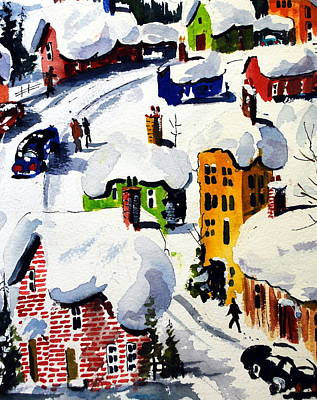 Quebec Painting - Laurentian Snows by Wilfred McOstrich