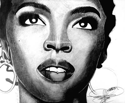 Projects Drawing - Lauryn Hill Drawing by Keeyonardo